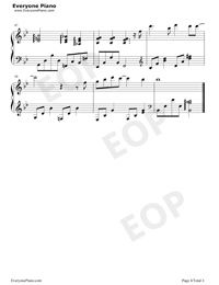 Wont Cry-Accompaniment Stave Preview 4