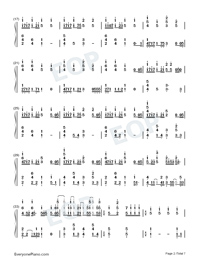 Ai ni Dekiru Koto wa Mada Aru Kai-Weathering with You Theme-Numbered-Musical-Notation-Preview-2