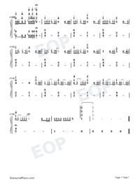 Ai ni Dekiru Koto wa Mada Aru Kai-Weathering with You Theme-Numbered-Musical-Notation-Preview-7