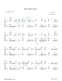 July-Noah Cyrus-Numbered-Musical-Notation-Preview-1