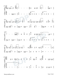 Half The World Away-Oasis-Numbered-Musical-Notation-Preview-2