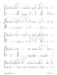 Half The World Away-Oasis-Numbered-Musical-Notation-Preview-3