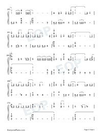 Half The World Away-Oasis-Numbered-Musical-Notation-Preview-4