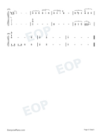 Half The World Away-Oasis-Numbered-Musical-Notation-Preview-5