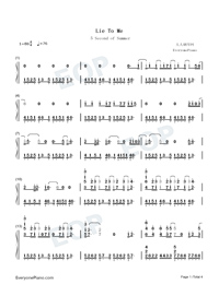 Lie to Me-5 Seconds of Summer-Numbered-Musical-Notation-Preview-1