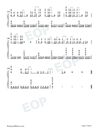 Lie to Me-5 Seconds of Summer-Numbered-Musical-Notation-Preview-4