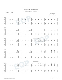 Through Darkness-Approaching Nirvana-Numbered-Musical-Notation-Preview-1
