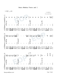 Dance Monkey-Tones and I-Numbered-Musical-Notation-Preview-1