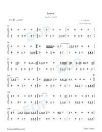 Lover-Taylor Swift-Numbered-Musical-Notation-Preview-1