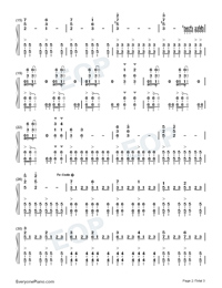 March of Mighty Blowing East Wind Dongfeng-Numbered-Musical-Notation-Preview-2