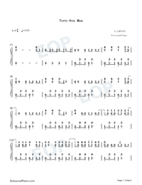 Torn-Ava Max-Numbered-Musical-Notation-Preview-1