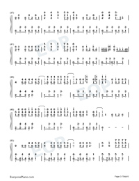 Torn-Ava Max-Numbered-Musical-Notation-Preview-3