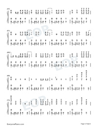 Torn-Ava Max-Numbered-Musical-Notation-Preview-4