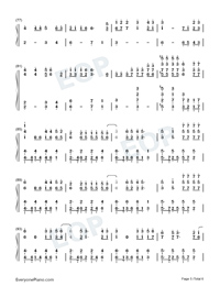 Torn-Ava Max-Numbered-Musical-Notation-Preview-5