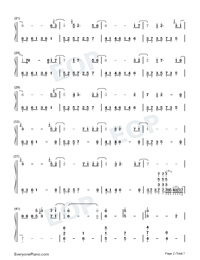 Schwarzer Regen-The Dark Forest-The Three-Body Problem Theme-Numbered-Musical-Notation-Preview-2