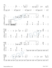 Schwarzer Regen-The Dark Forest-The Three-Body Problem Theme-Numbered-Musical-Notation-Preview-5