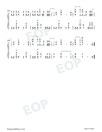 10000 Hours-Dan Shay ft Justin Bieber-Numbered-Musical-Notation-Preview-4