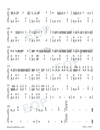 Memories-Maroon 5-Numbered-Musical-Notation-Preview-3