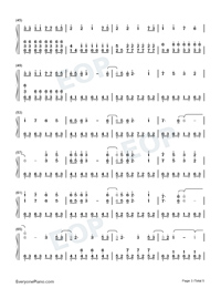 Illusionary Daytime-Perfect Piano Version Numbered Musical Notation Preview 3