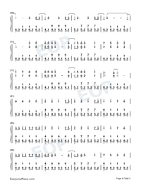 Illusionary Daytime-Perfect Piano Version Numbered Musical Notation Preview 4