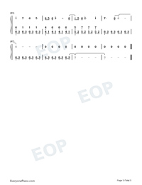 Illusionary Daytime-Perfect Piano Version Numbered Musical Notation Preview 5