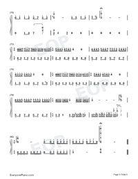 Mariage D'amoure Numbered Musical Notation Preview 5