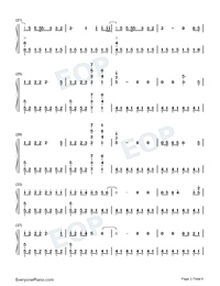 The Last Time-The Script Numbered Musical Notation Preview 2