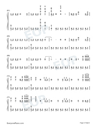 The Last Time-The Script Numbered Musical Notation Preview 4