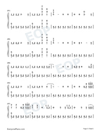 The Last Time-The Script Numbered Musical Notation Preview 5
