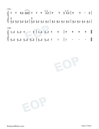 The Last Time-The Script Numbered Musical Notation Preview 6