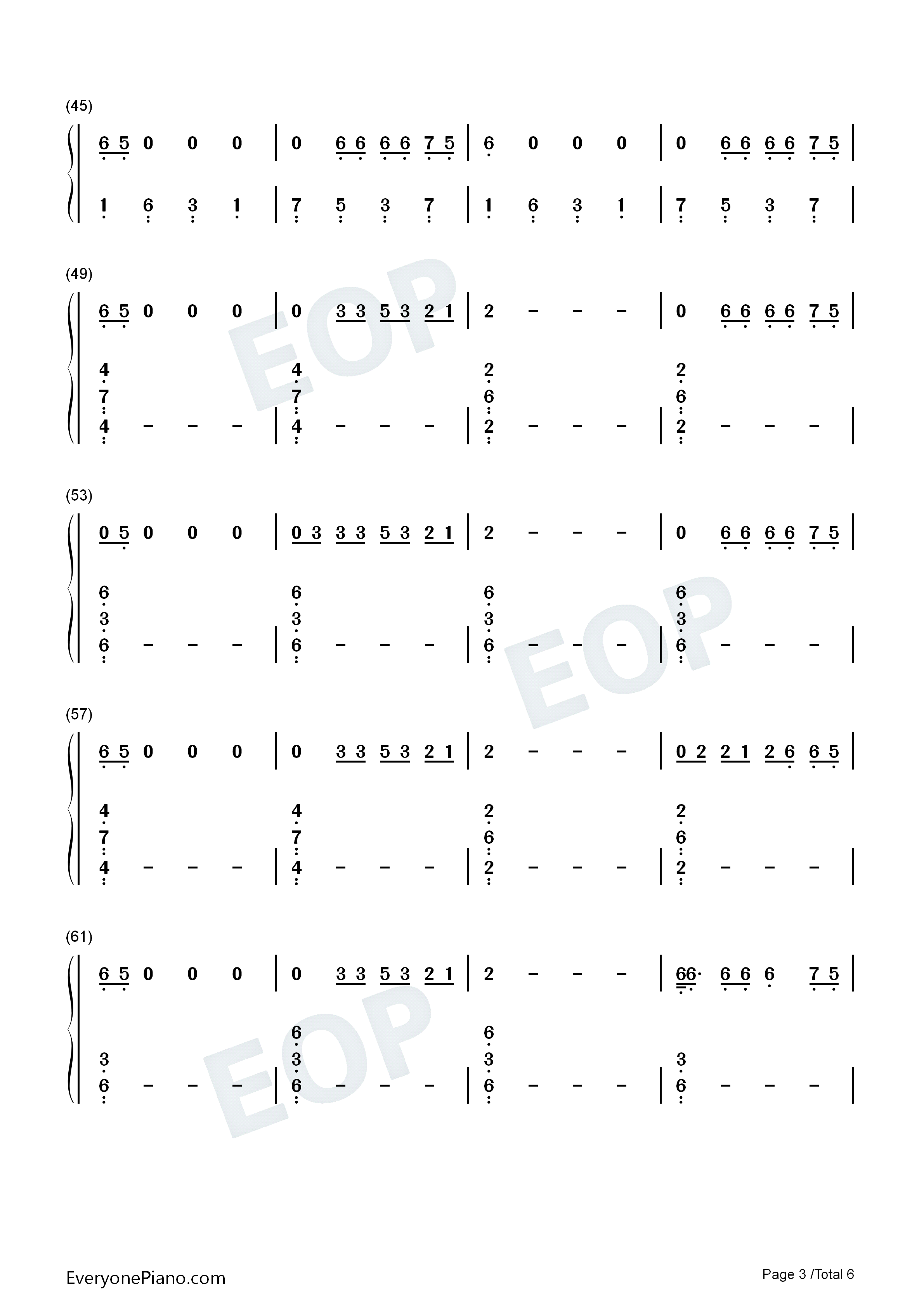Highest In The Room-Travis Scott Numbered Musical Notation Preview 3
