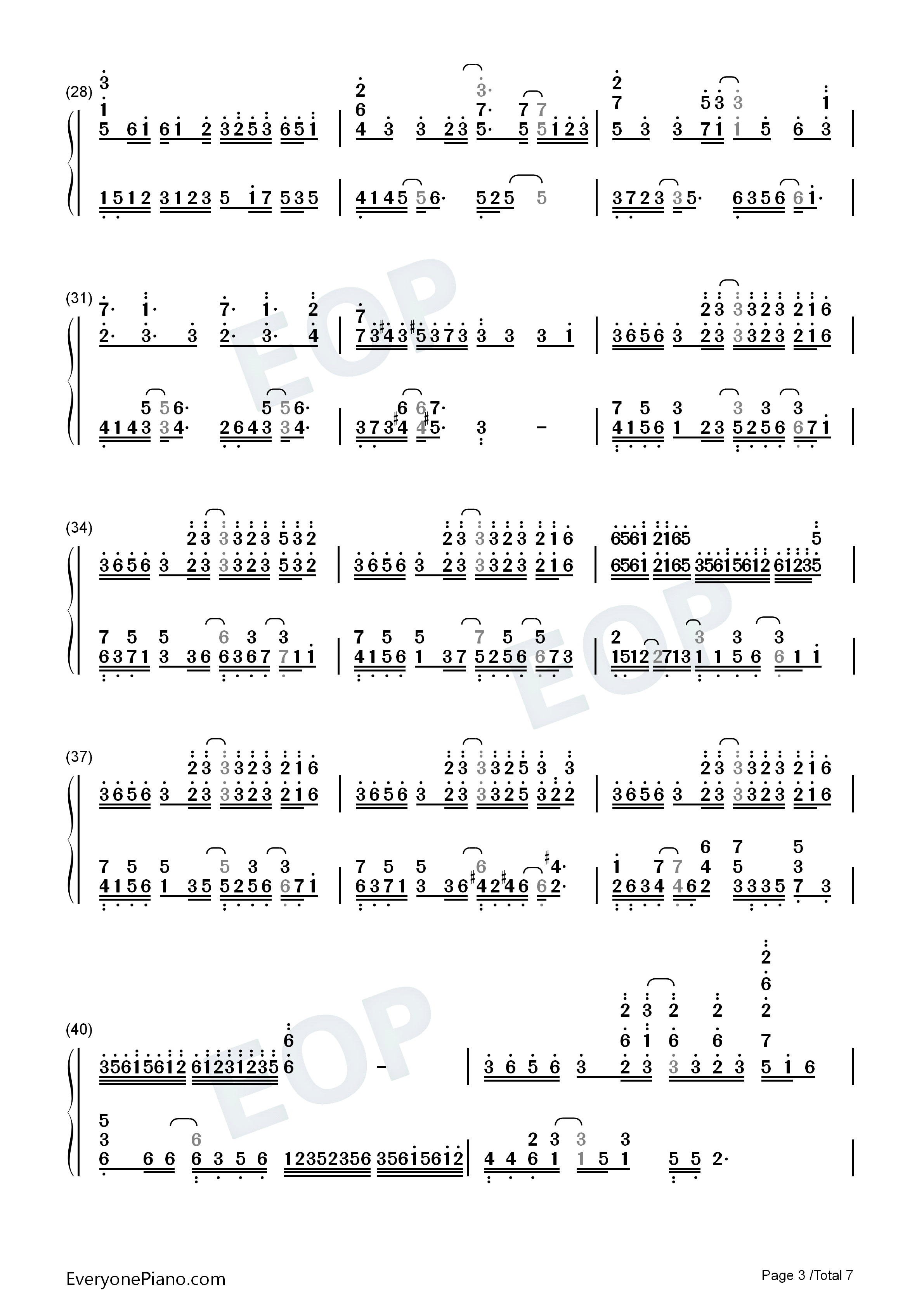 What To Sing-Perfect Version Numbered Musical Notation Preview 3