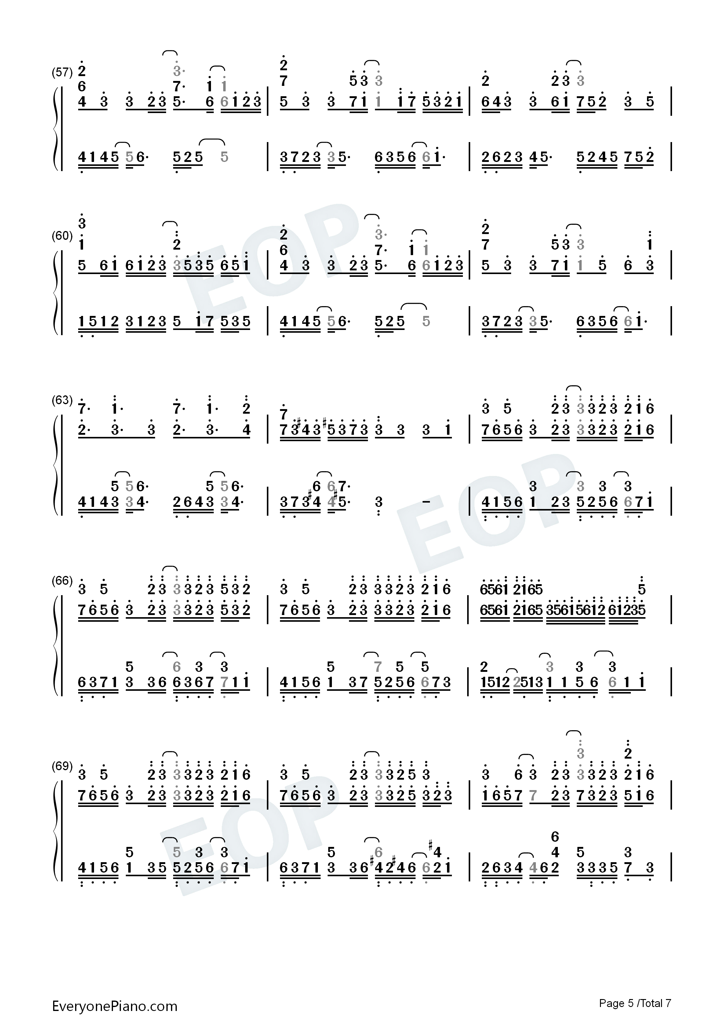 What To Sing-Perfect Version Numbered Musical Notation Preview 5