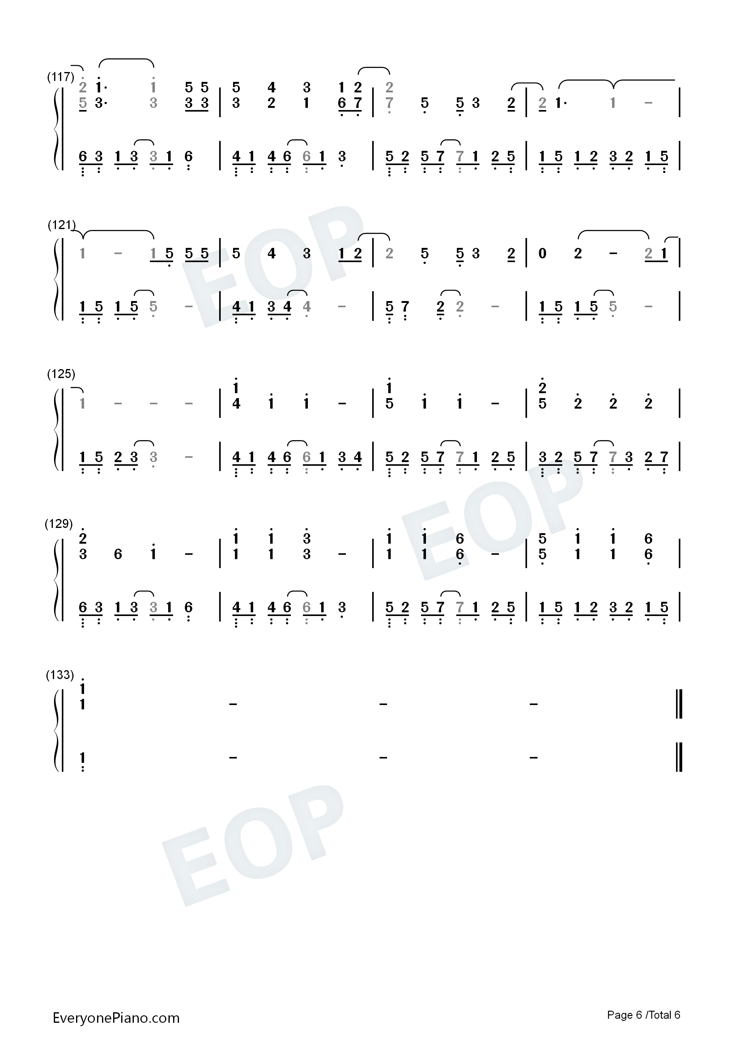 A Scholar-Jiang Chao Numbered Musical Notation Preview 6