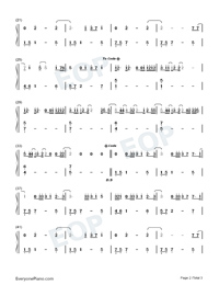 Empty Space-James Arthur-Numbered-Musical-Notation-Preview-2