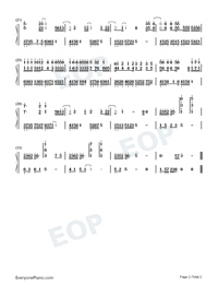 Crowd Are Not You-Numbered-Musical-Notation-Preview-2
