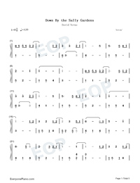 Down by the Sally Gardens-David Nevue-Numbered-Musical-Notation-Preview-1