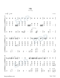 Falling-Wang Feng-Numbered-Musical-Notation-Preview-1