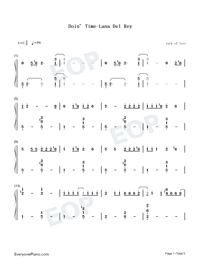 Doin Time-Lana Del Rey-Numbered-Musical-Notation-Preview-1