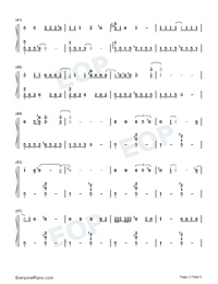 Doin Time-Lana Del Rey-Numbered-Musical-Notation-Preview-3