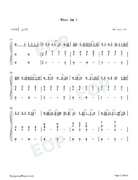 What Am I-Why Dont We-Numbered-Musical-Notation-Preview-1