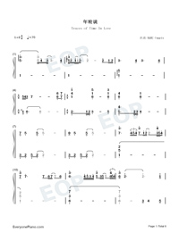 Traces of Time In Love-Life Plan A and B OP-Numbered-Musical-Notation-Preview-1