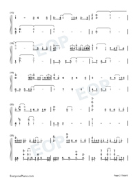 Traces of Time In Love-Life Plan A and B OP-Numbered-Musical-Notation-Preview-2