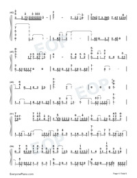 Traces of Time In Love-Life Plan A and B OP-Numbered-Musical-Notation-Preview-4