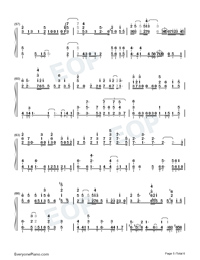 Traces of Time In Love-Life Plan A and B OP-Numbered-Musical-Notation-Preview-5