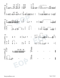 Traces of Time In Love-Life Plan A and B OP-Numbered-Musical-Notation-Preview-6