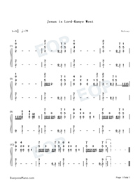 Jesus is Lord-Kanye West Free Piano Sheet Music & Piano Chords