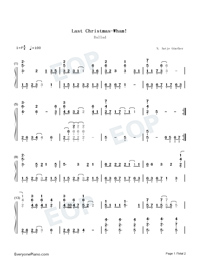 Last Christmas-Wham- Free Piano Sheet
