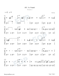 All Is Found-Frozen 2-Numbered-Musical-Notation-Preview-1