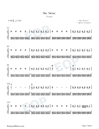 The Twins-Max Richter-Numbered-Musical-Notation-Preview-1